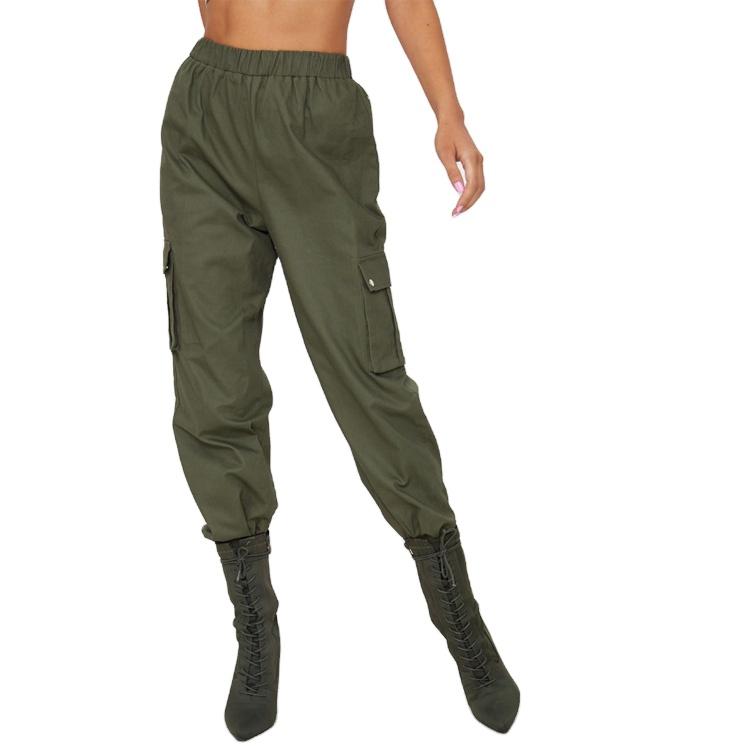 コントラストカラーブロックデザイン女性のフェイクレザージョギングパンツスウェットパンツ