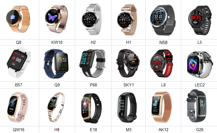 2020 new model  DT88 Smartwatch IP68 Waterproof Wearable Device Heart Rate Monitor Men Women Sports Smart Watch For Android IOS