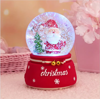 2019 New christmas snow globe crystal ball music box movements music+box