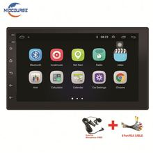 Midcourse 7 ''Autoradio Android 8.1 Mobil Stereo Radio 2 DIN HD 2.5D Tempered Glass <span class=keywords><strong>Sentuh</strong></span> <span class=keywords><strong>Layar</strong></span> Mobil Video Wifi GPS <span class=keywords><strong>Bluetooth</strong></span>