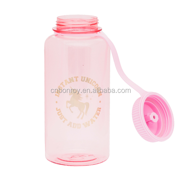Water bottle with pushpull clear lid