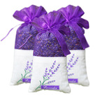 Gift promotion custom logo organza lavender sachets linen lavender bag car air fresh aroma
