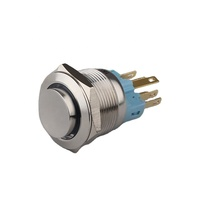 Installment 22mm Flat Stainless Steel Anti-Vandal LED Micro Switch