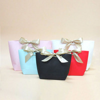 personalized ribbons Gift bags wedding pink luxury paper bag