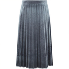 2019 Summer Long Section Half-length Skirt Girl Velvet A-line Pleated Skirt Women
