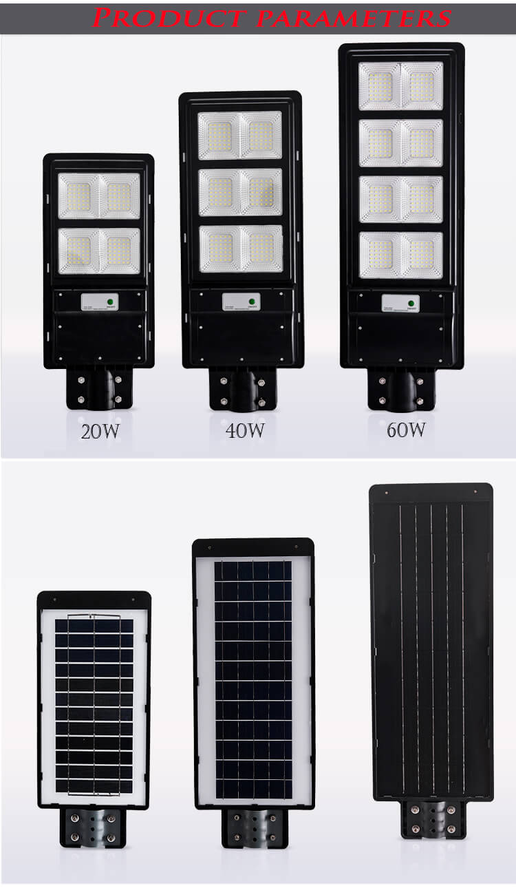 Waterproof outdoor ip65 motion sensor integrated 10w 20w 30w 50w led solar street light price