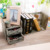 Torched Wooden Desktop Organizer Book Shelf with 2 Drawers