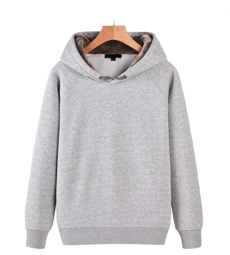 <strong>Manufacturers</strong> New Thickening Fleece Hooded Sweater Cover Head Solid Color Blank Custom Casual Printing Men's Clothing