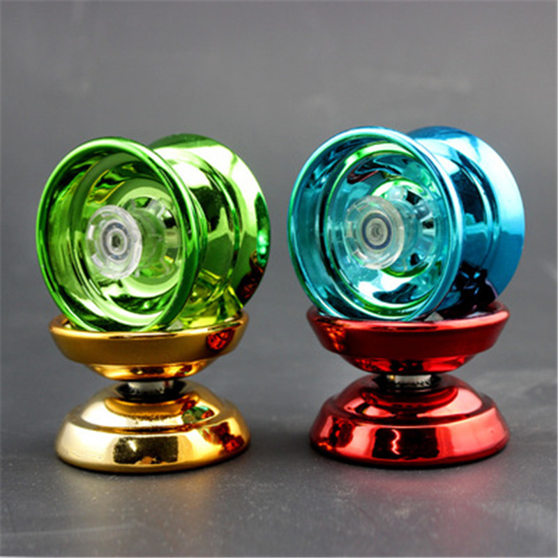 4 Colors Magic Yoyo Responsive High-speed Aluminum Alloy Yo-yo pinning String for Boys Girls Children Kids