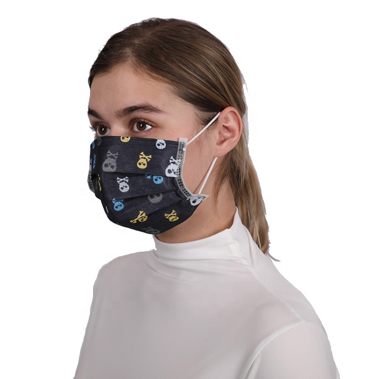 surgical face mask black