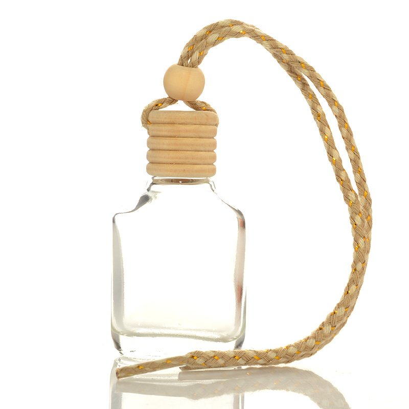 Avertan 15ml <strong>Empty</strong> Square Shaped Diffuser <strong>Bottle</strong> Car <strong>Perfume</strong> <strong>Bottles</strong> Hanging Car Air Freshener for Car Diffuser