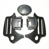 25 mm nylon black colored quick release buckle plastic bag buckle