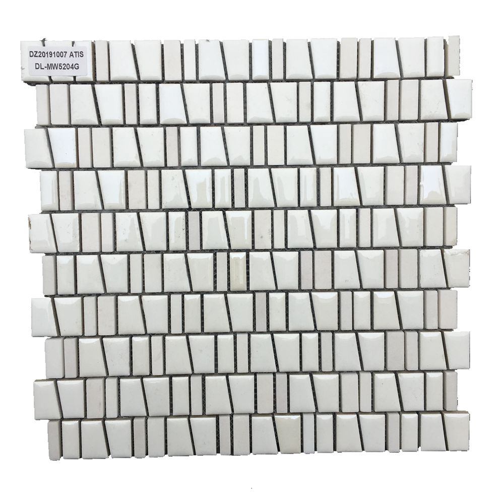 Hot selling white ceramic and stone mosaic tile for bathroom and kitchen Foshan China