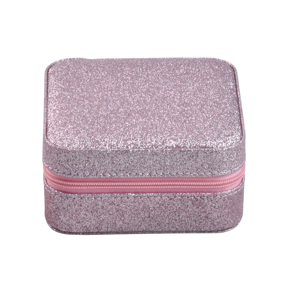 Luxury high-end zip jewelry box recycled jewelry packaging for small travel jewelry box organizer