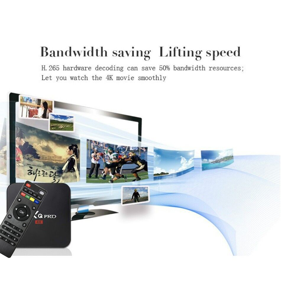 Hot koop Rockchip RK3229 chip TV Box 4K Android 7.1 OTT 1G + 8G Quad-core set Top Media Player Wifi Lan Internet TV BOX