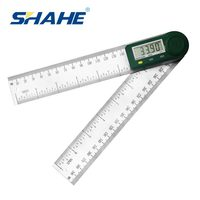 SHAHE New 0-200 mm 7'' Digital Protractor Angle Ruler Electron Goniometer Protractor Inclinometer Angle Meter Measuring Tools