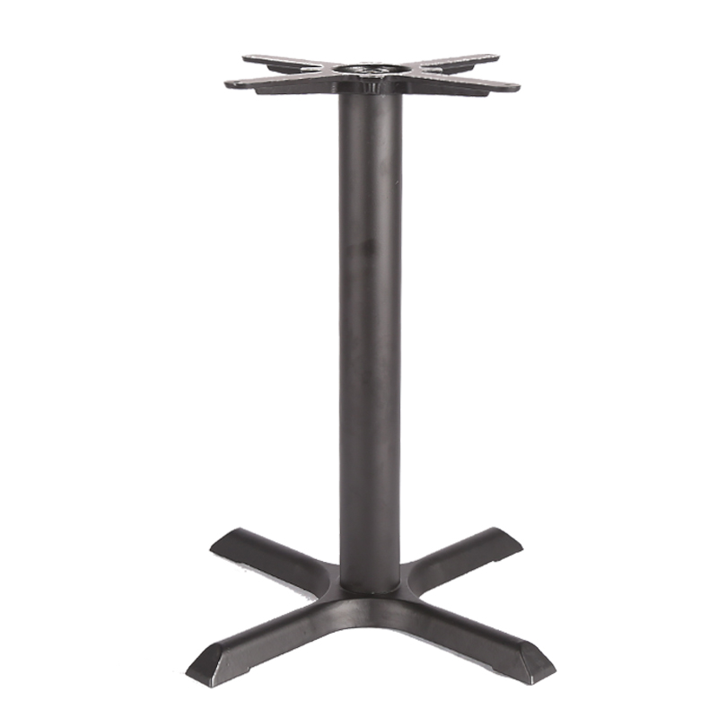 """outdoor funiture 22"""" x 22"""" Black 4"""" Standard Height Column Table Base"""