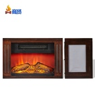 small tabletop household heater wood fireplace electric stove