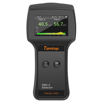 Temtop Airing-1000 Professional Laser Air Quality Monitor PM2.5/PM10 Detector Particle Counter Dust Meter Real Time Display