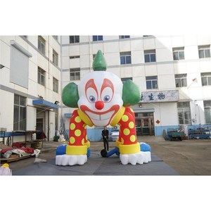 Giant Smile Face Inflatable Clown Arch with 4 Legs for Halloween Decoration in Stock