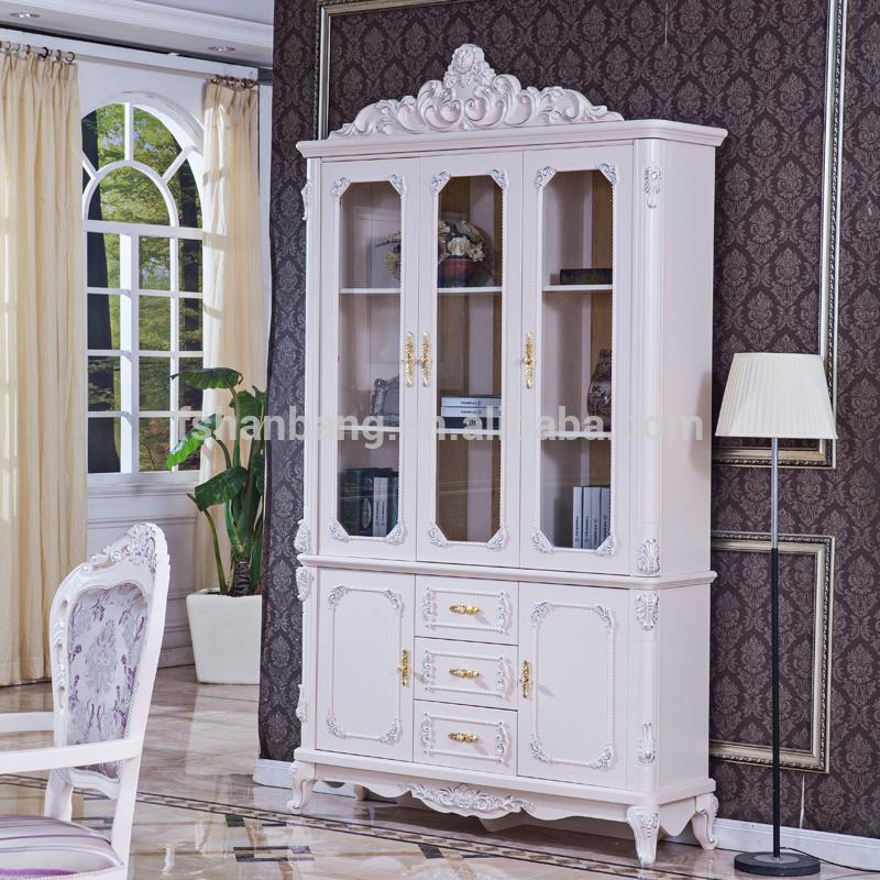 เฟอร์นิเจอร์ห้องนอนที่ทันสมัยสีขาวมือทำแกะสลักชุดห้องนอน