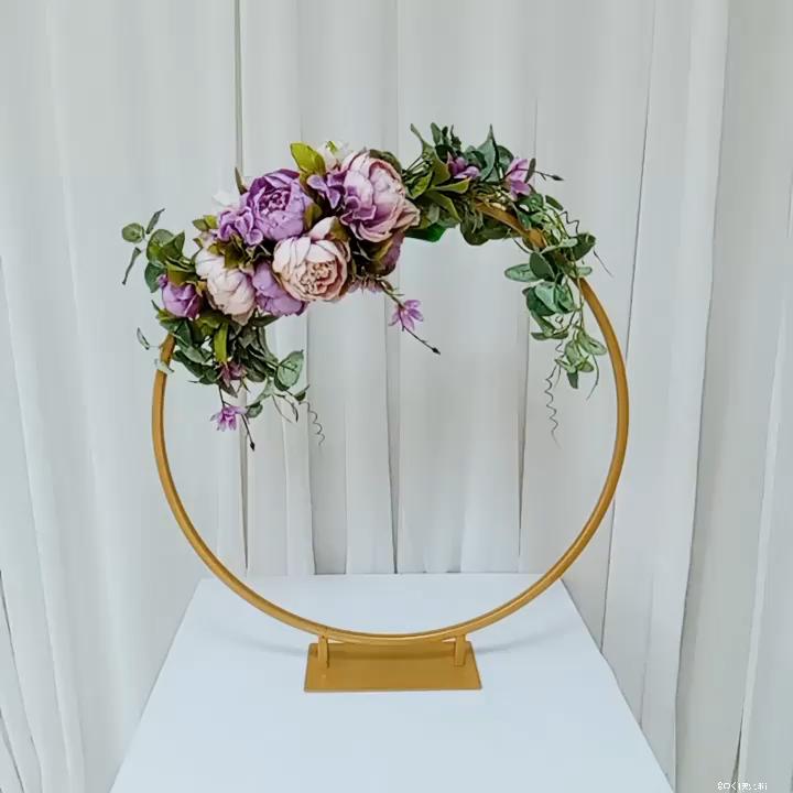 Eenvoudige Bruiloft Centerpieces Kleine Meta Boog Kleine Ronde Boog Metalen Bloem Stands Tafel Middelpunt Bruiloft Decoratie