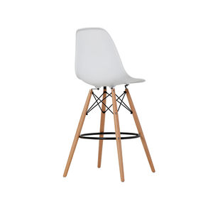 Modern minimalist restaurant chair nordic plastic bar stool solid wood high bar chair ins dining chair
