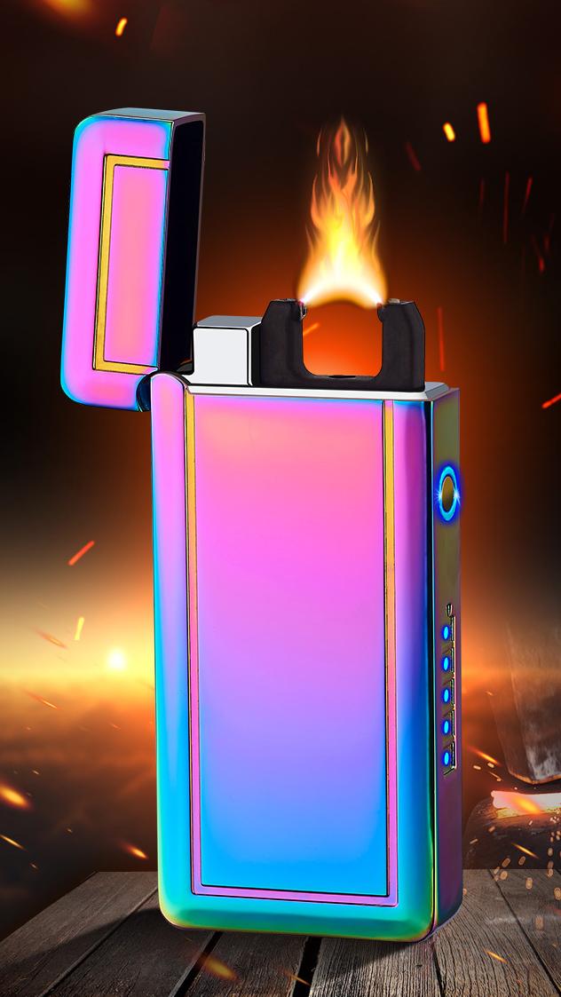 Laser Inductie Arc Lichter X Plasma Aanstekers, Oplaadbare Usb Elektrische Aansteker Met Led Display Power