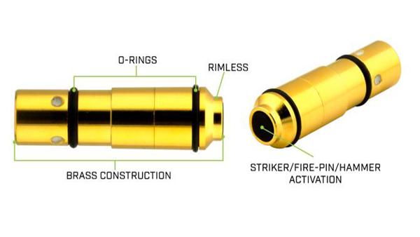 Plaqué or airsoft pistolet. 22-250Rem. laser balle pour formation