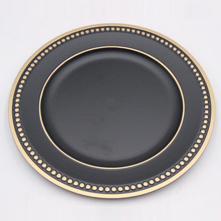 Cheap Charger Wholesale Ab Rose Gold <strong>Plastic</strong> <strong>Plate</strong>