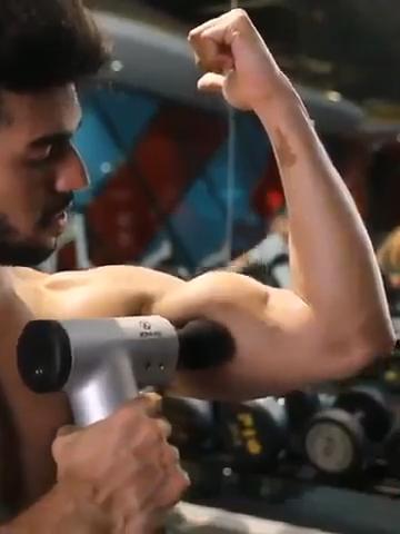 4 головки вибрации мышцы массажер мини массажное панель пистолет ручной Электрический массажер для тела спортивный дрель портативный