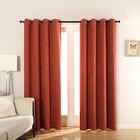 Luxury SanX Twined Twisted Linen Blackout Fabrics Curtains Orange For The Living Room