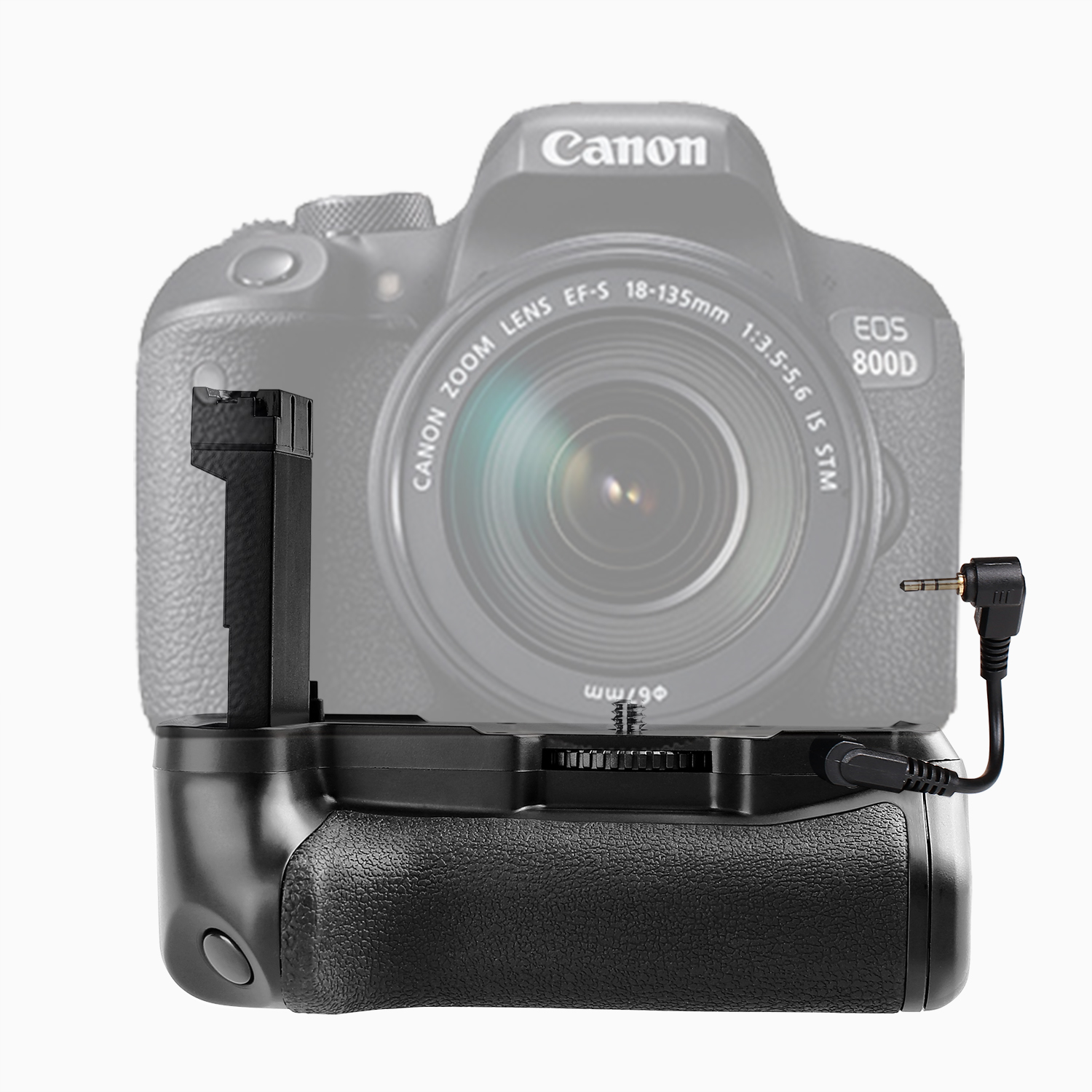 Travor Power Battery Grip Holder Per Canon EOS 800D/Rebel T7i/77D/Bacio X9i DSLR Fotocamera Dedicato lavoro Con LP-EL17