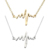 Fashion Creative Nurse Female Heartbeat Heart ECG Pendant Clavicle Necklace For Gifts