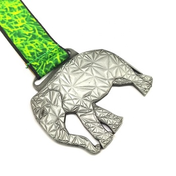 Zinc Alloy Custom Logo Award Metal Sport Made Metal 3D Elephant Medal