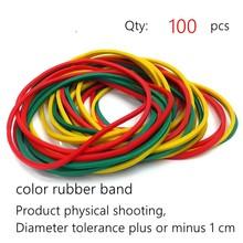 60-65 мм размер цветная эластичная резинка для настольных принадлежностей Органайзер канцелярский держатель Резиновая лента(Китай)
