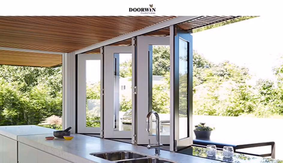 NFRC 2020 أحدث تصميم زجاج مزدوج الألومنيوم نافذة قابلة للطي