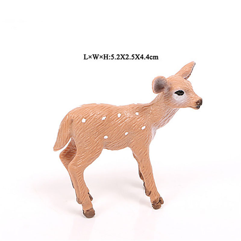 Resin Simulation of Wild Animal Whitetail Deer Model Hand-made Suit Decoration For Christmas Figrine