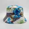 Hot Sale 2019 Custom Made Floral Cotton Wide Brim Foldable Print Bucket Hat Double Sided Fisherman Cap
