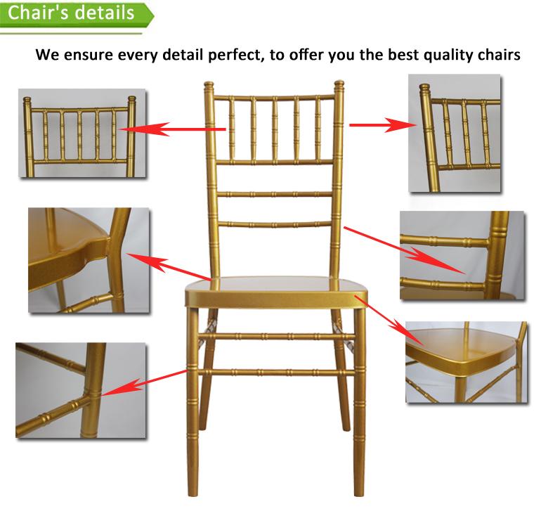 gold chiavari chair with cushion