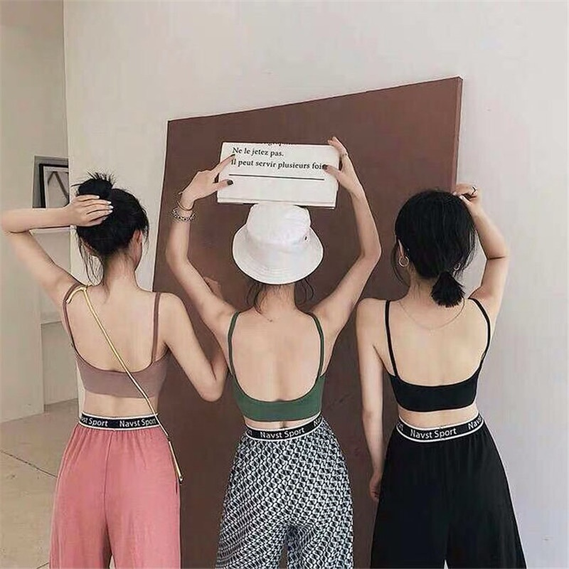 New Sexy Thread Brassiere pad Wireless Sports Beauty U Back Tube Top Wrapped Chest Girl Lady Vest Seamless Bra Tube Top