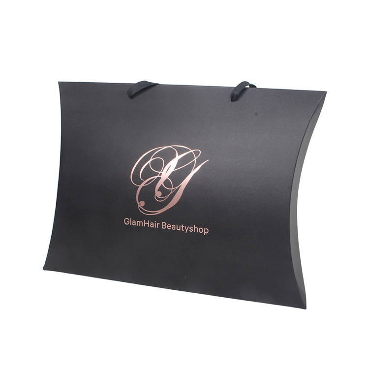 Wholesale custom hair pillow boxes bundle wig packaging box for hair extension packaging
