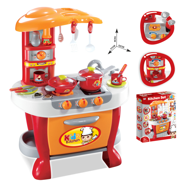 Novelty hot selling technology touch kitchen toys cookhouse touch induction kitchenware toys for girls