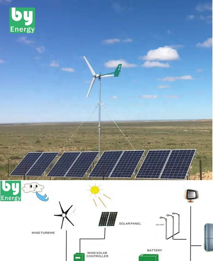 solar panel off grid system complete  wind mill generator home solar power system home