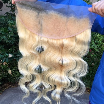 Black Friday Deals Top Quality Preplucked With Baby Hair 613 Blonde HD Thin/ Transparent Swiss Lace Closure/ Frontal