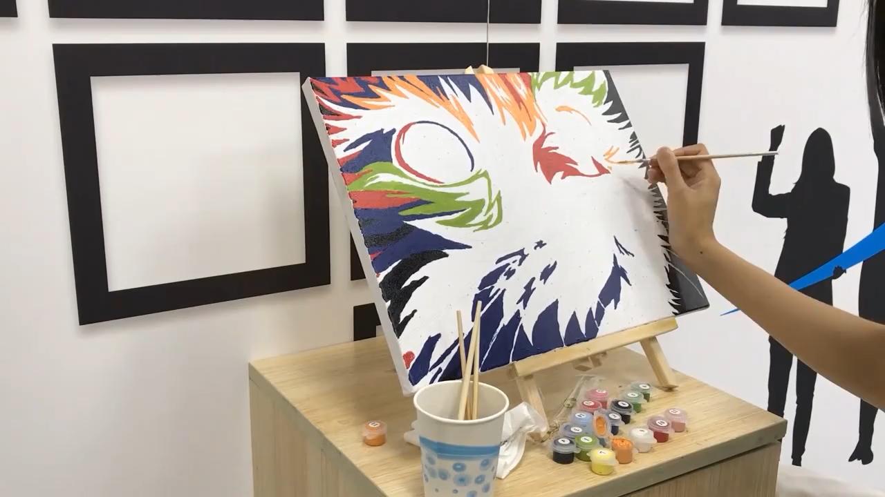 Pintura A Óleo DIY Pintura pelo Kit Número Big Ben com sete cores adulto pintura por números de lona Desenho Com Escovas 40x50cm