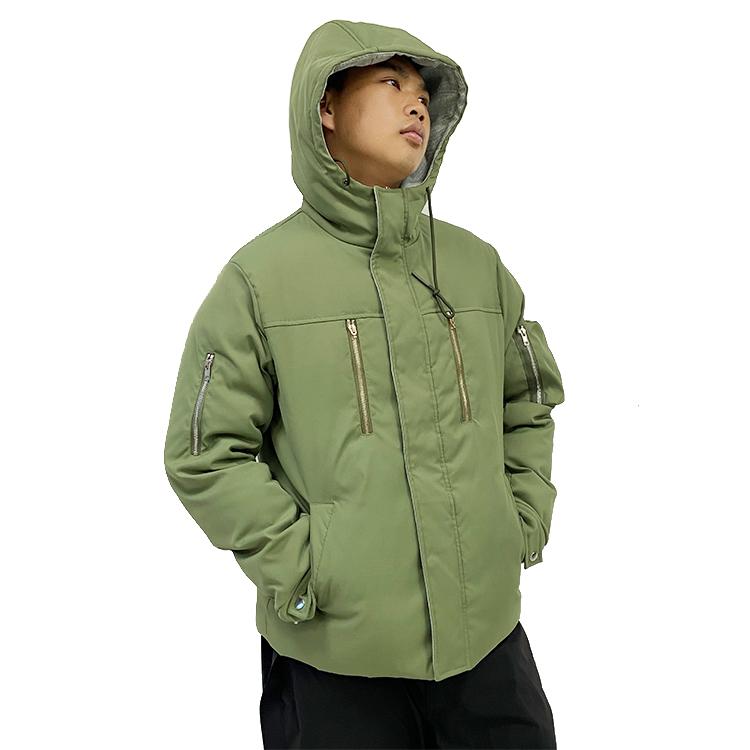 custom logo Men Latest Army Green Jacket Light Windbreaker Classic Men Outdoor Down Jacket factory