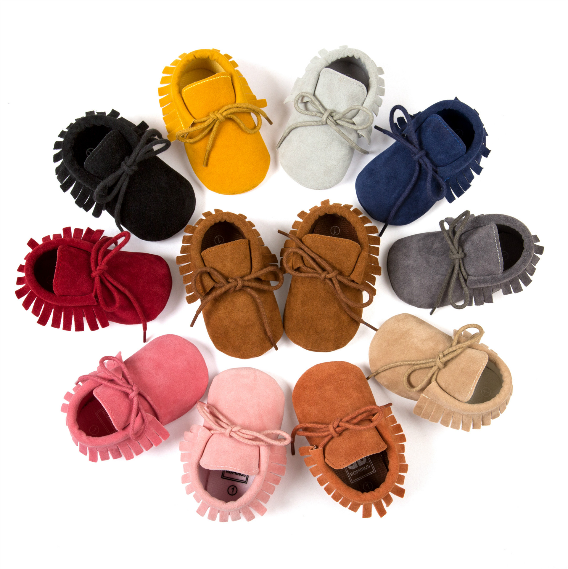 Soft Sole baby shoes Moccasin girls Baby First Walker Shoes Toddler PU Leather Non-Slip Newborn Infant Shoes For 0-12M
