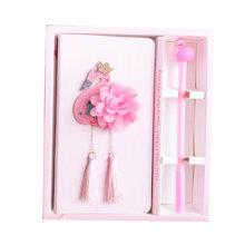 Прекрасный розовый Фламинго Единорог дневник записная книжка гелевые ручки набор Sketchbook подарки для девочек и студентов(Китай)