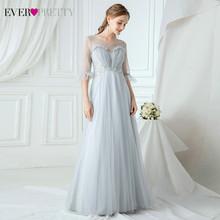 Элегантные платья подружки невесты Ever Pretty EP00745DN, с блестками, аппликацией, а-силуэтом, v-образным вырезом и оборками, тюлевые Свадебные плать...(Китай)